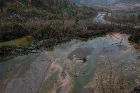 Main untreated water flow in rain season meitu 1