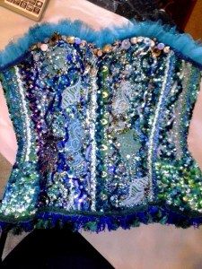 bead embroidered corset by Suzanne Forbes 2013