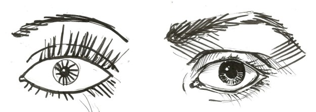 Eye drawings by Suzanne Forbes 2015