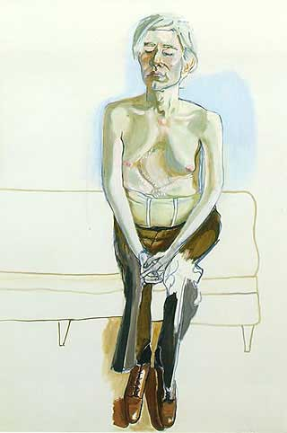 Andy Warhol painted by Alice Neel