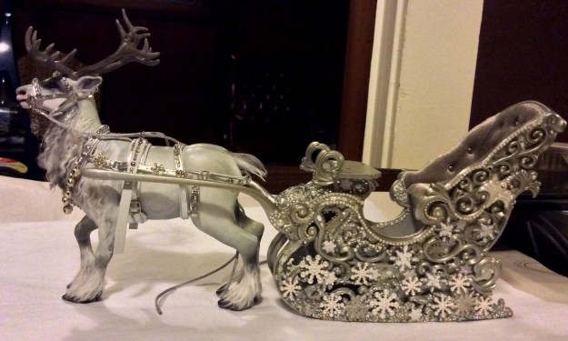 Snow Queen miniature reindeer and sledge Suzanne Forbes 2014