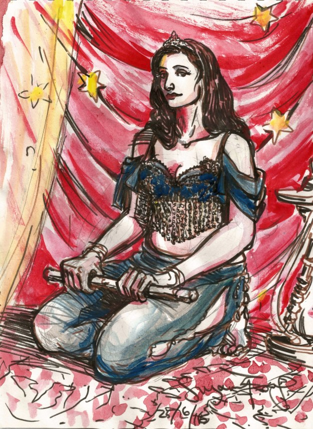 Wonder Woman Jasmine mashup Suzanne Forbes June 25 2016