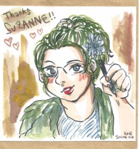 Drawing of Suzanne Forbes by Shine August 20 2016