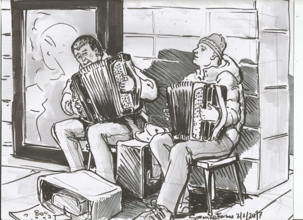 Accordionists at Yorckstrasse by Suzanne Forbes March 1 2017