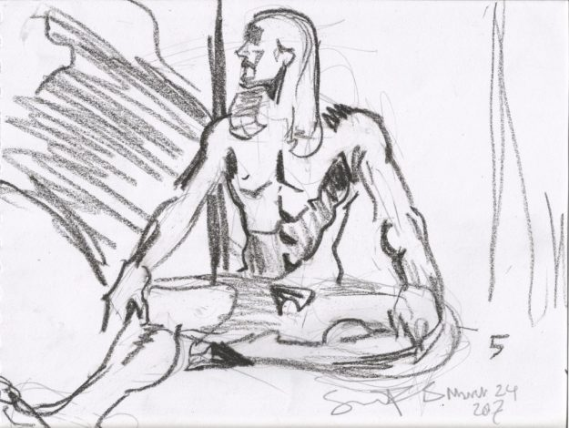 Life drawing 5 min 2 by Suzanne Forbes March 24 2017