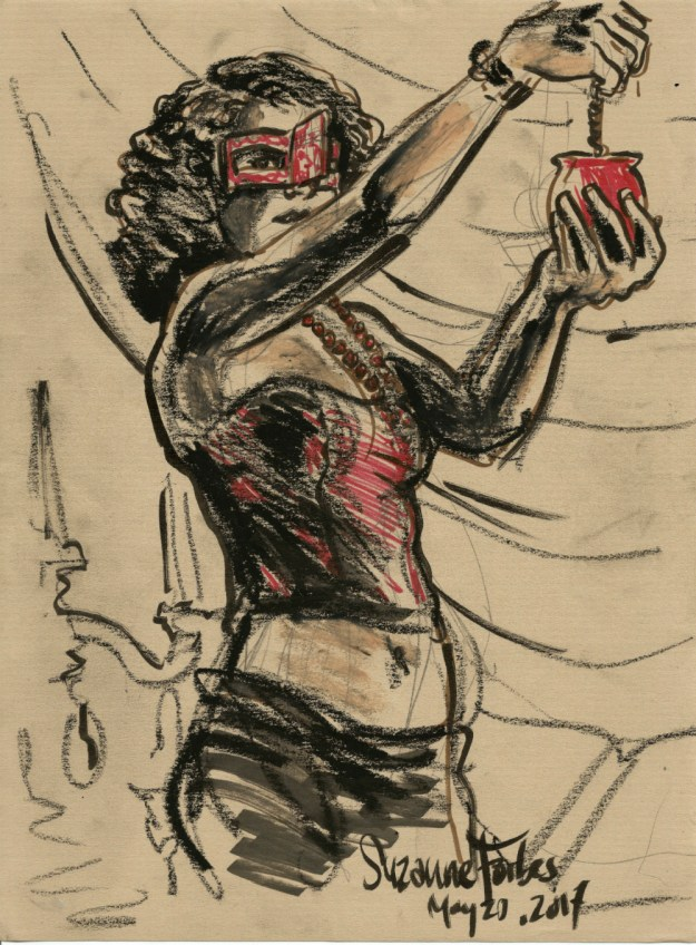 drink and draw berlin may 20 2017 by Suzanne Forbes red lantern