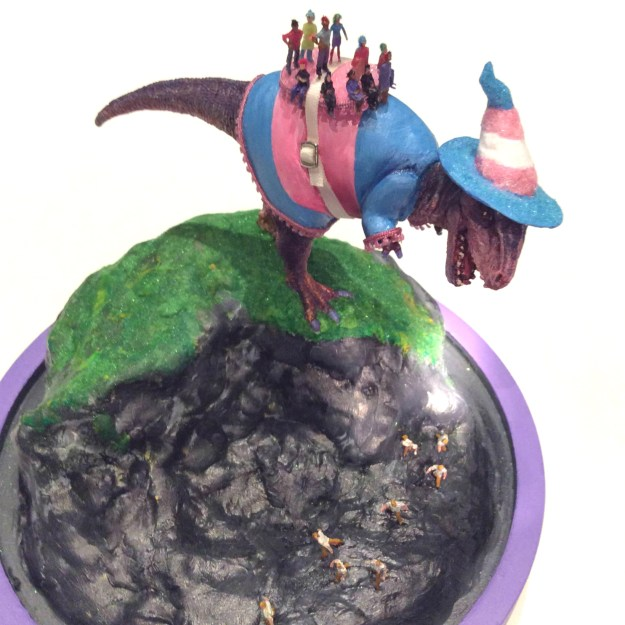 Trans Dino Witch sculpture by Suzanne Forbes Aug 26 2017