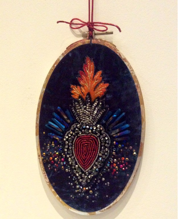 sacred heart collage embroidery by Suzanne Forbes Aug 30 2017