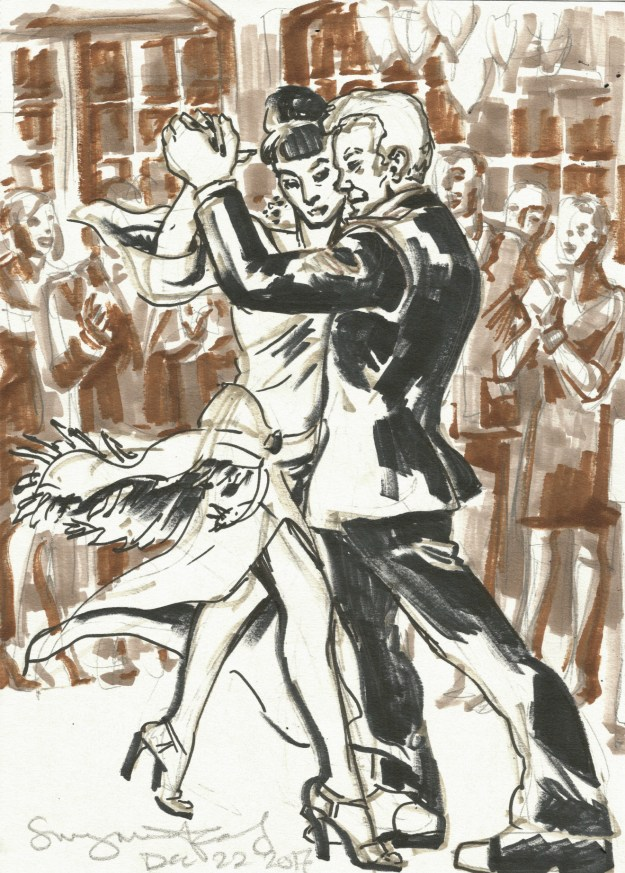 Tango dancers at Tango Loft Berlin by Suzanne Forbes Dec 22 2017
