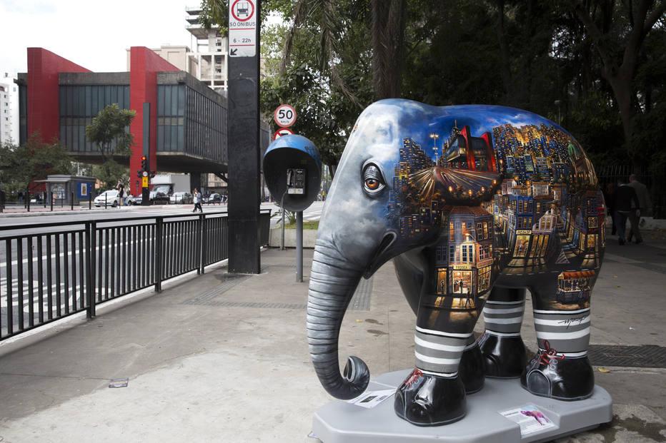 A Elephant Parade invade São Paulo com arte e conscientização