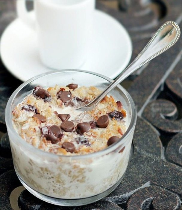 This recipe is a huge reader favorite on my website, with over 1,000 positive reviews from readers who have made the recipe. It tastes like eating a Mounds bar for breakfast. Highly recommended! http://chocolatecoveredkatie.com/2011/11/10/coconut-cookie-dough-oatmeal/ width=