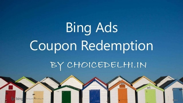 How to Redeem Bing Coupon