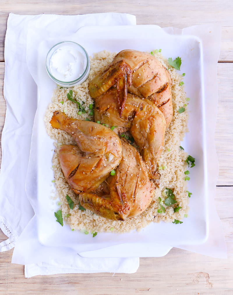 pollo al horno estilo medio oriente