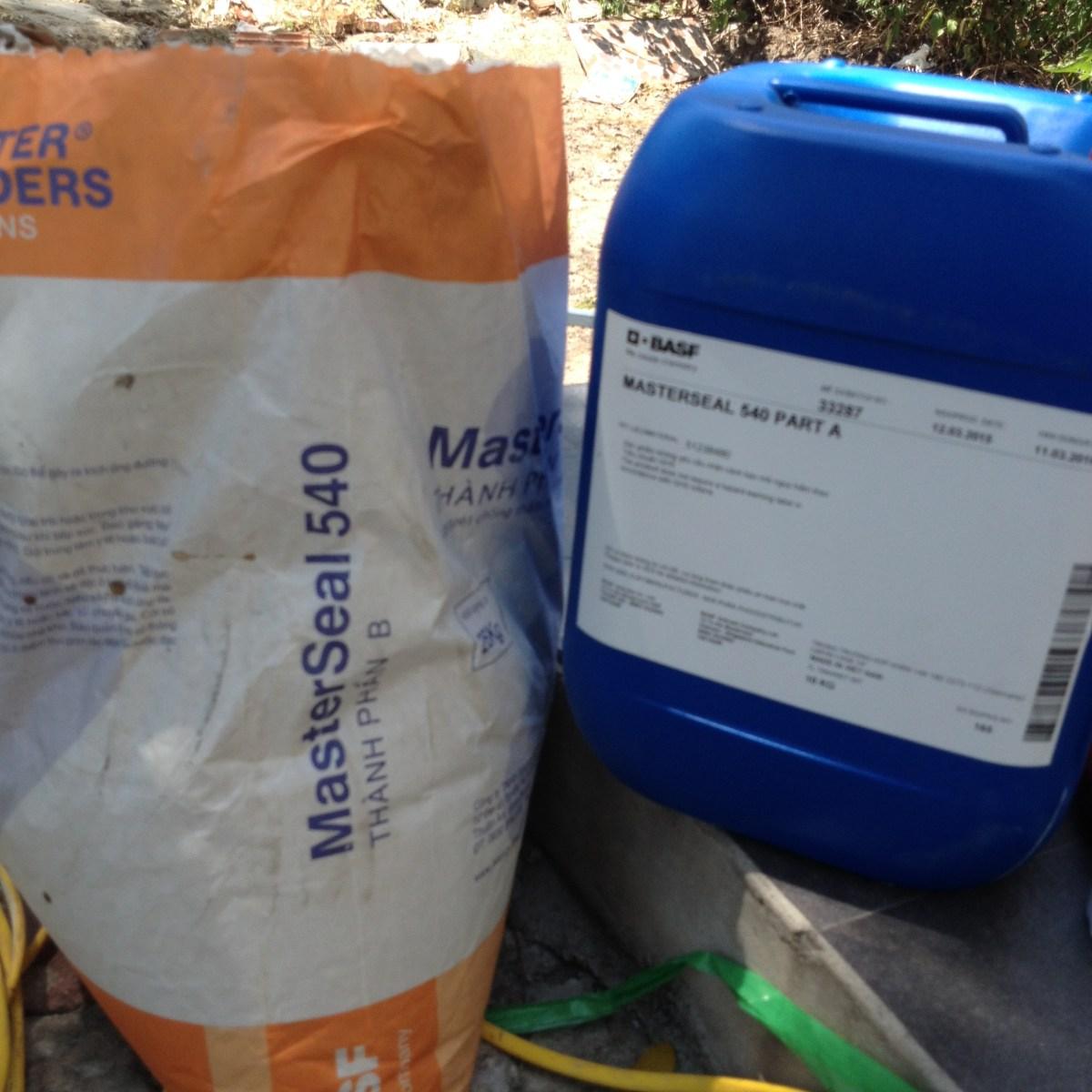 MasterSeal 540 - Chất chống thấm tạo màng đàn hồi gốc xi măng - polimer