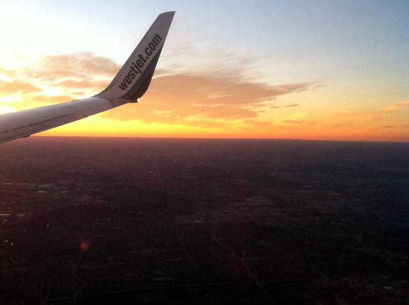 Sunset from 7000 feet