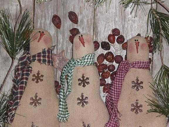 Primitive Christmas Snowmen