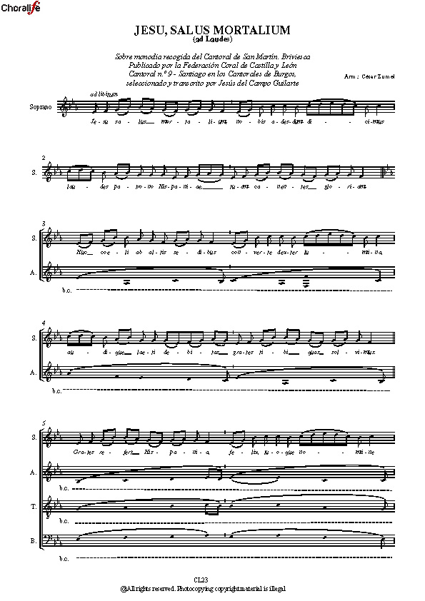 Preview Jesu salus mortalium_SATB Choir_Zumel