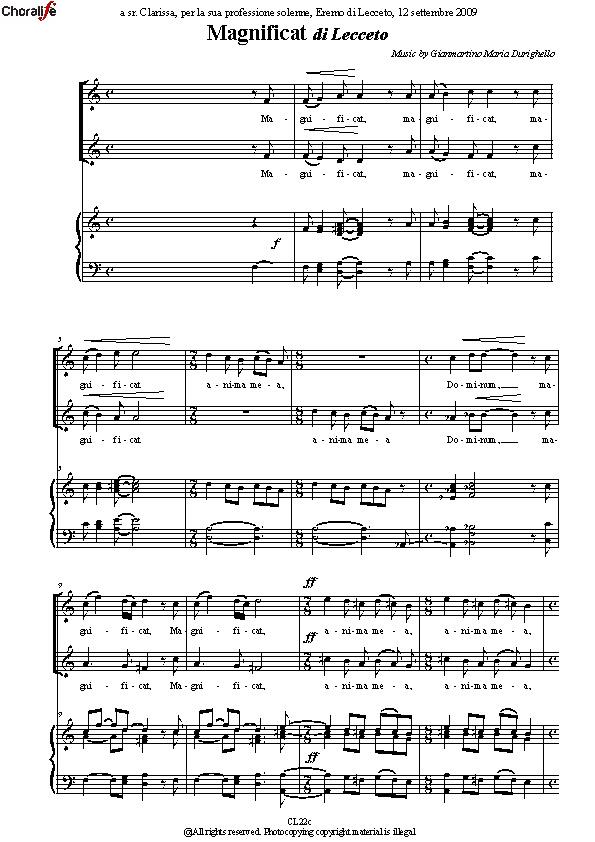 Preview Magnificat_2 Voices_Durighello