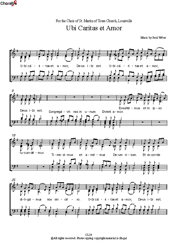 Preview Ubi Caritas_SATB Choir_Weber