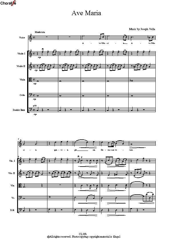 Preview Ave Maria_ Voice and Strings_Vella