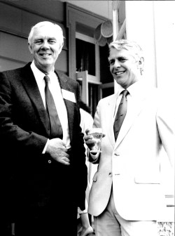 Mike Reynolds and Robin Hanbury Tenison August 4th 1987