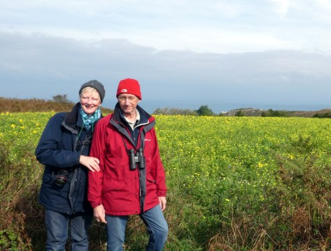 Alison & Ray Hales ready for some chough watching
