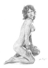 one of my early female life drawings