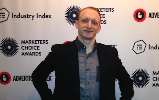 Chris Franco at the 2014 Marketers Choice Awards