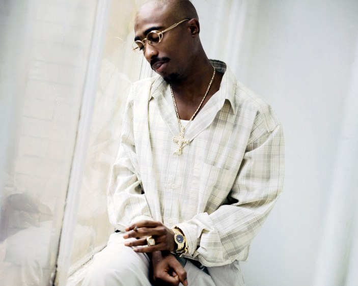 Tupac Shakur looking out of window