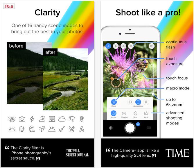 Instagram Apps - Camera Plus Screens