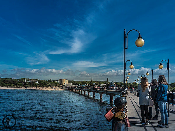 Seebrücke Międzyzdroje mit interessanten Wolken