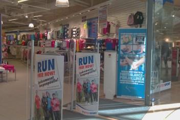 Footbalance in a mall in Vantaa