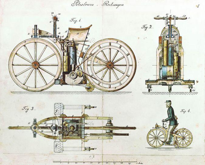 745px-Daimler_Reitwagen_color_drawing_1885_DE_patent_36423