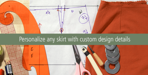 Craftsy - Skirt Pattern Drafting adding custom design detailing