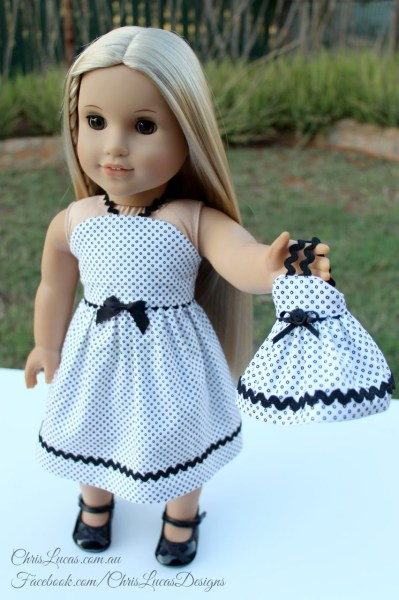 American Girl doll and Mini AG dolls Dress - Chris Lucas Designs