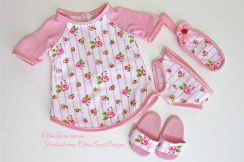 American Girl Dolls Pajamas - Chris Lucas Designs