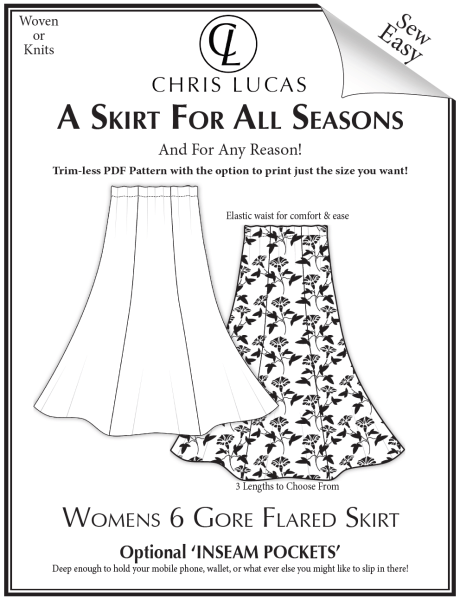 New womens sewing pattern release!  A Skirt for All Seasons