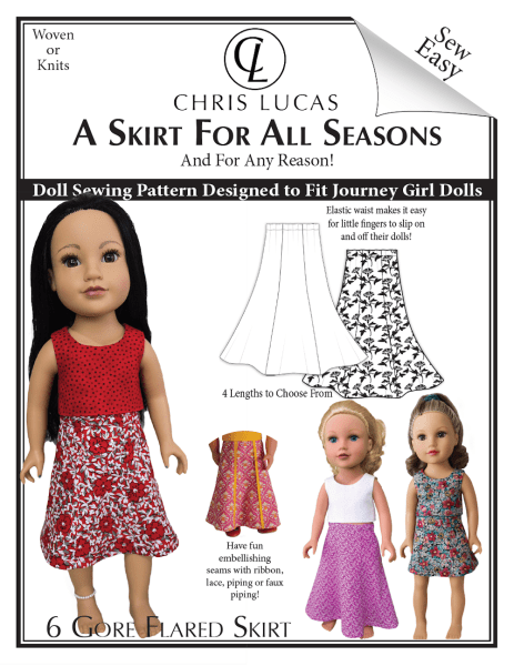 Journey Girl Doll Sewing Pattern – A Skirt For All Seasons – Out Now!