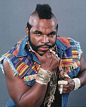 Mr. T could be accused of wearing too much art.