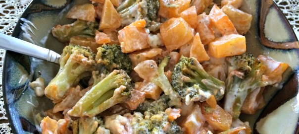 Vegetarian Potato and Broccoli Buffalo Salad