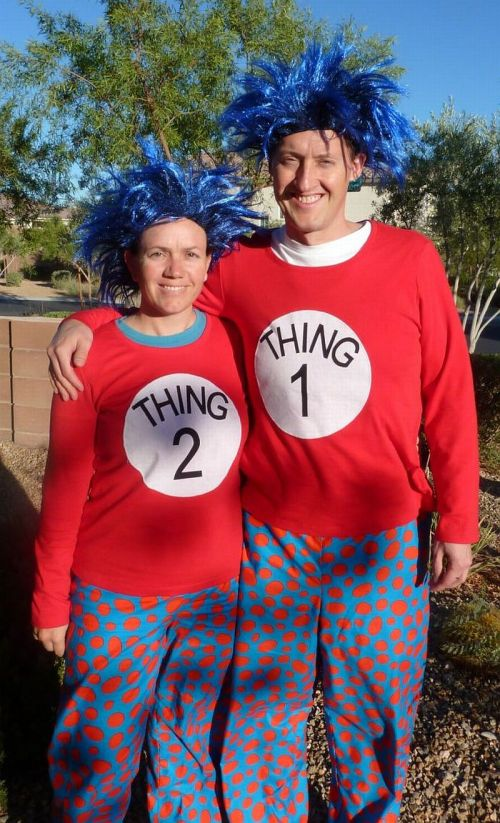 Medium Of Thing One And Thing Two Costumes