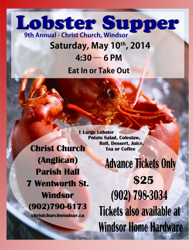 Lobster Supper 2014 poster