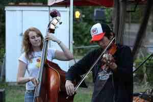 Jazz violin duo showing off their improv skills