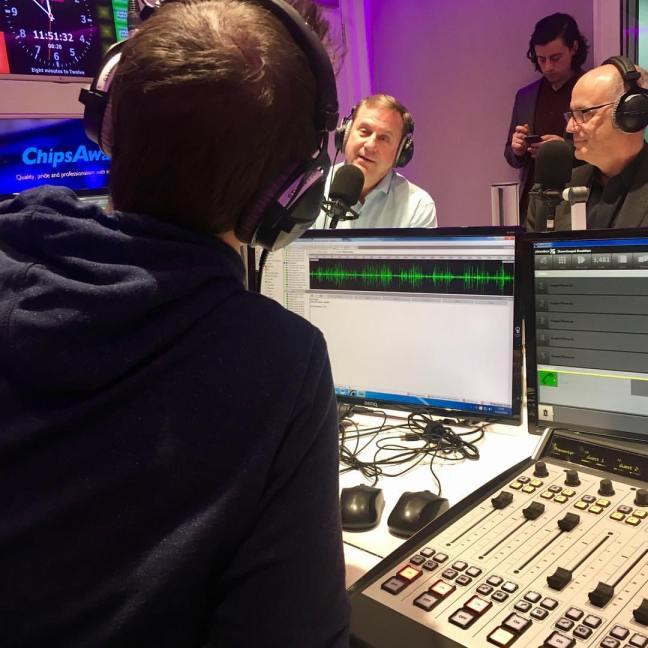 Jerry Johnston in Radio Studio