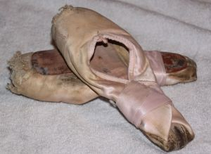 The last pair of pointe shoes I wore. These are 30 years old at least.