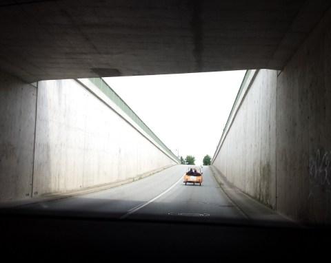"""Krause-Duo im Straßentunnel (MDR-Dreh """"Mit Anna an die Ostsee"""")"""