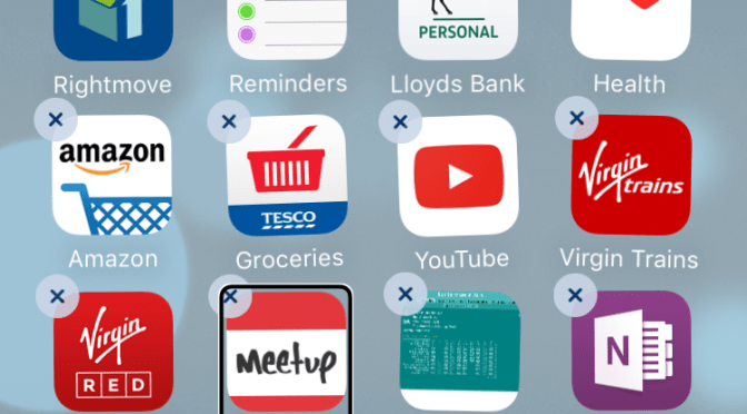 How-to: Delete an app in iOS with Voice Over