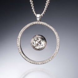 Small Of Floating Diamond Necklace