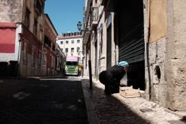Lisbon street chef working
