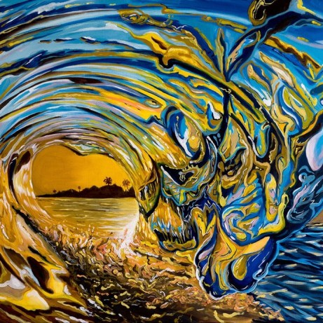 crashing wave paintng